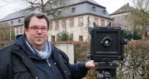 """Jörg mit der 4x5"""" Arca Swiss."""