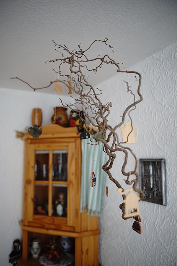 Deckenschmuck im Esszimmer